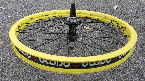 Profile X Primo BMX Wheelset - Matte Black & Matte Yellow