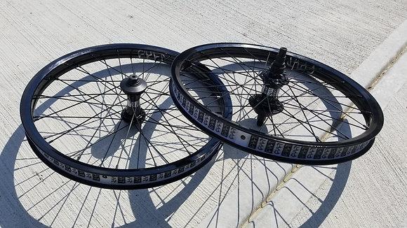 "Cult Crew BMX Wheelset - Black 20"" (RHD/LHD)"