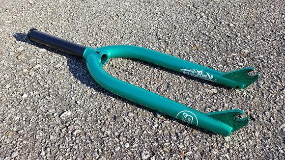 Total GS BMX Forks - Metallic Green