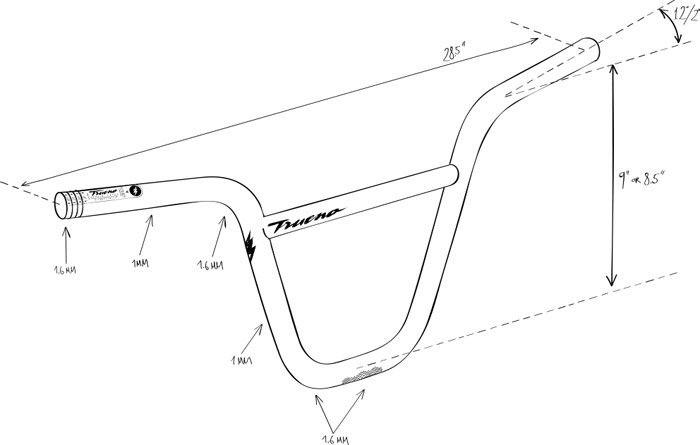 BMX Handlebars dimensions