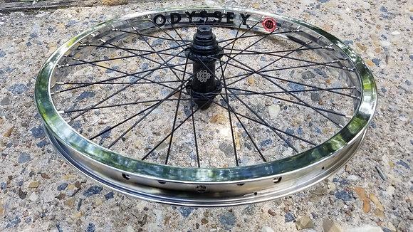 """Odyssey Hazard Lite BMX Front Wheel - Chrome (20"""")"""