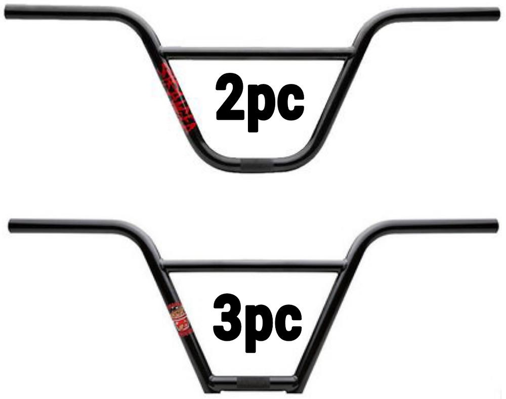 2pc vs 4pc handlebars bmx stranger handlebars