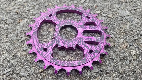 Shadow Crank & Bones BMX Sprocket - Purple 25t