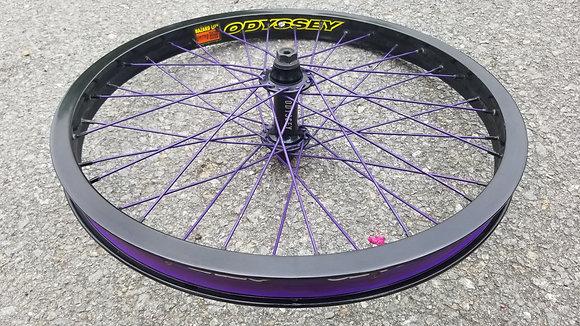 Odyssey Hazard X Vandero 2 BMX Front Wheel - Black & Purple