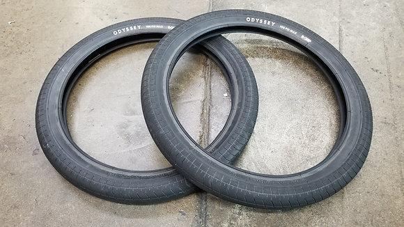 "Odyssey Path Pro BMX Tires - Black 20x2.40"" (PAIR)"