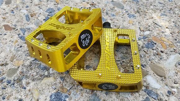 "Primo Super Tenderizer Alloy BMX Pedals - Gold (9/16"")"