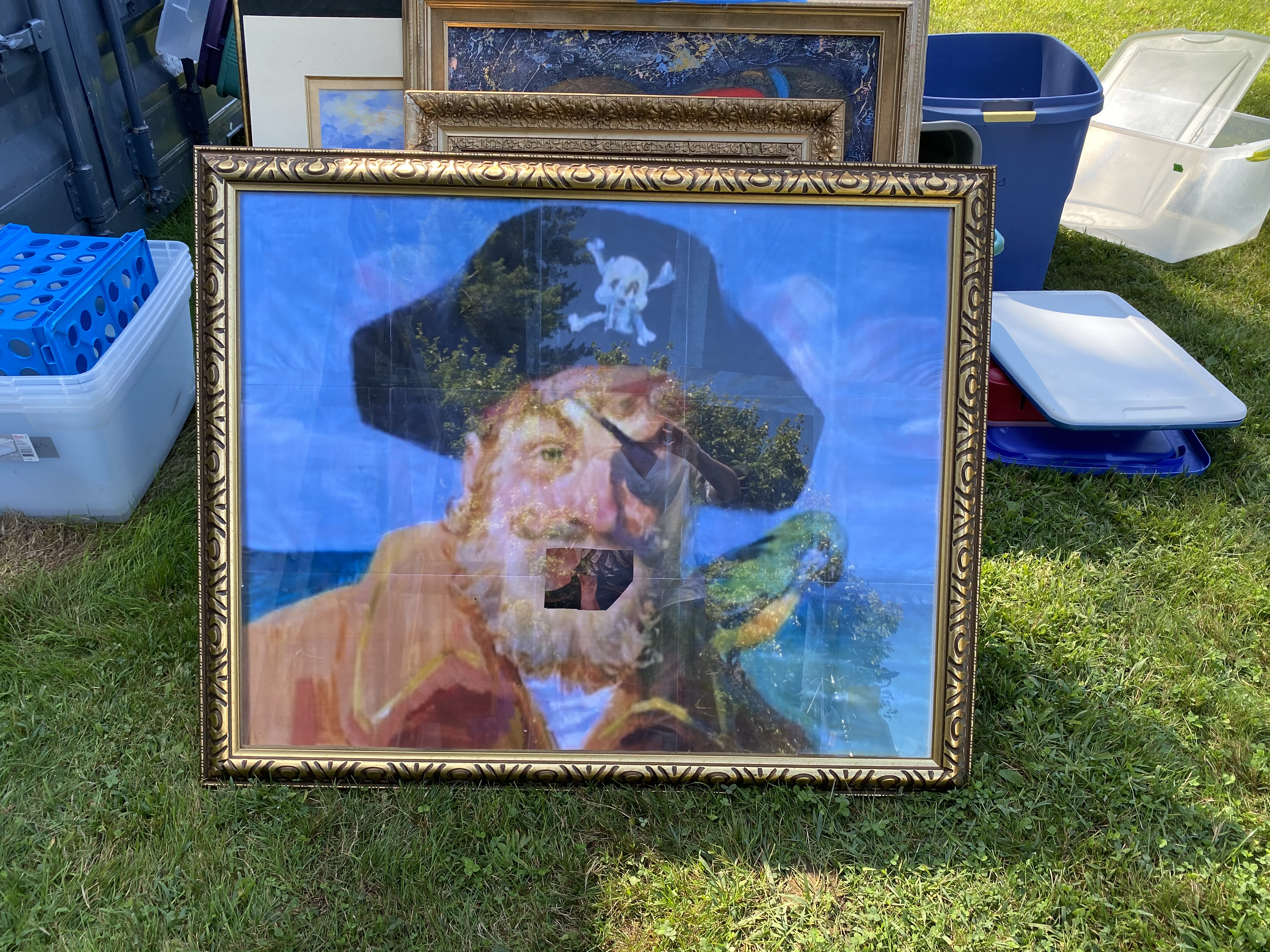 Large Painting and frame