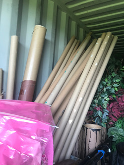 Poles, cardboard tubes