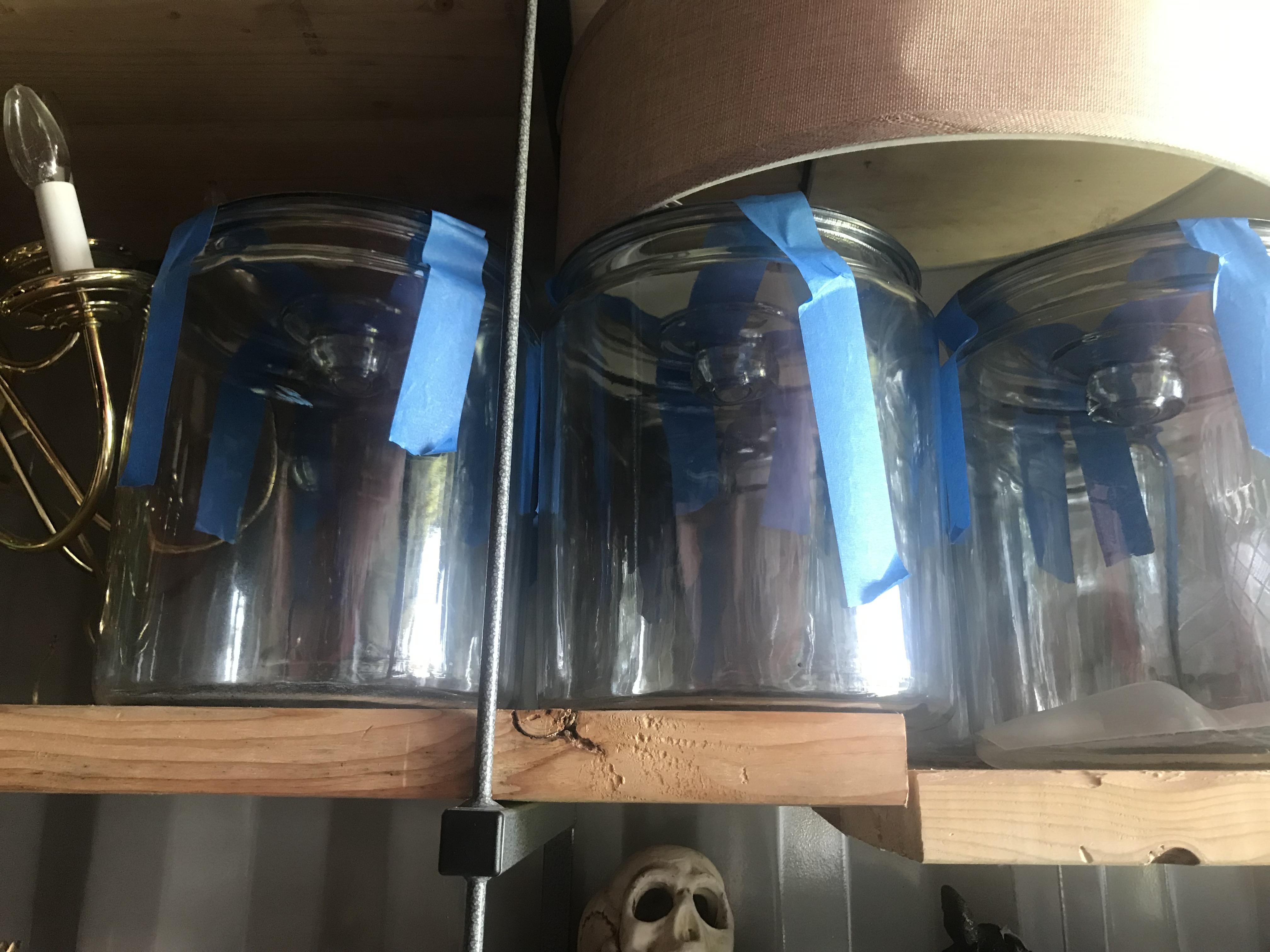 Jars, mason jars, vases bottles