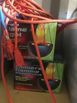 Flame fake hanging