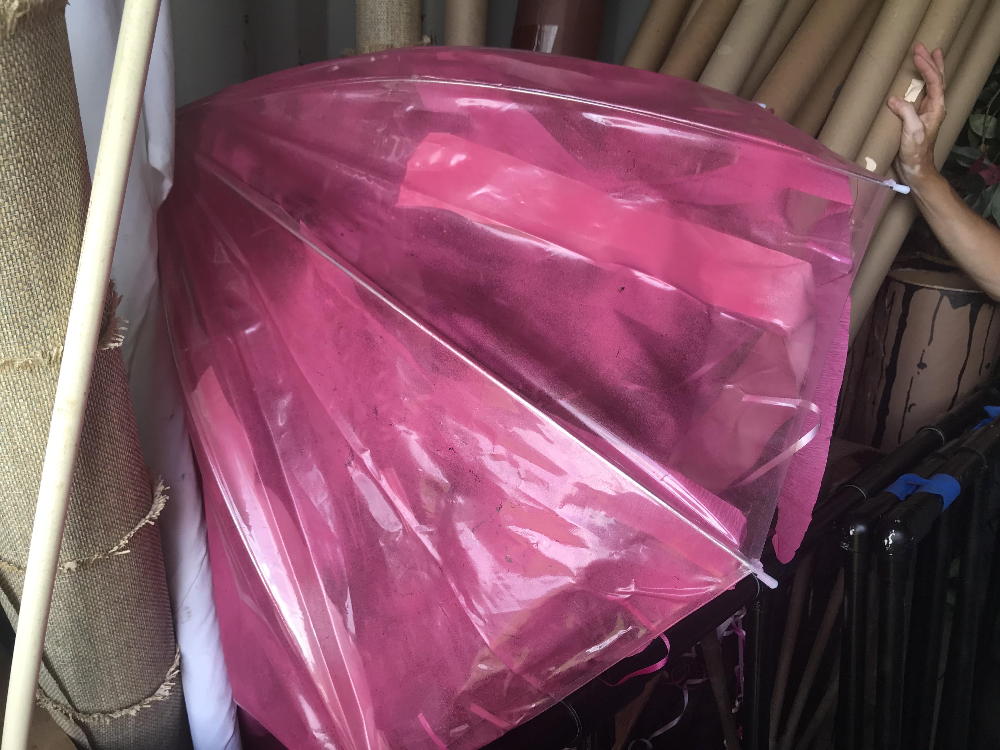 Pink Umbrella, squid,