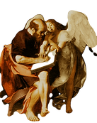 Caravaggio_MatthewAndTheAngel_byMikeyAng
