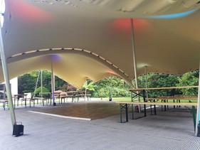 8x12 chino stretch tent