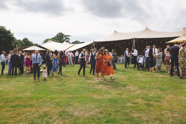 30x15m stretch tent (20x15 + 10x15) wedding