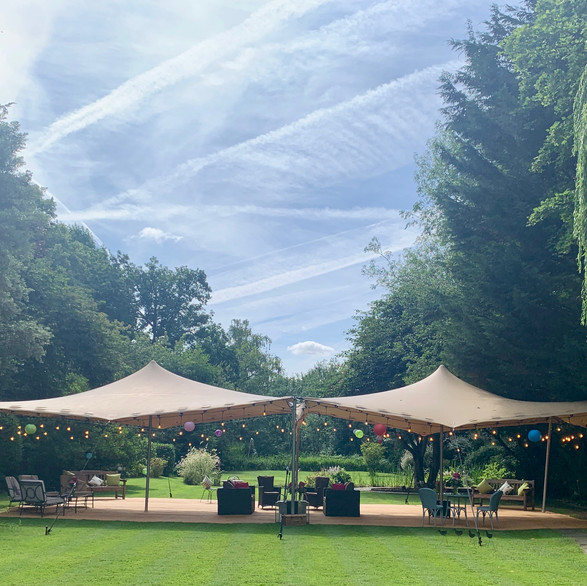 6x16m stretch tent (2x 6x8s joined)