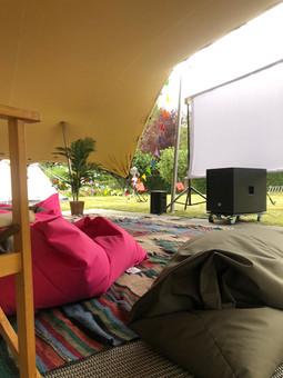 7x9m chino stretch tent cinema