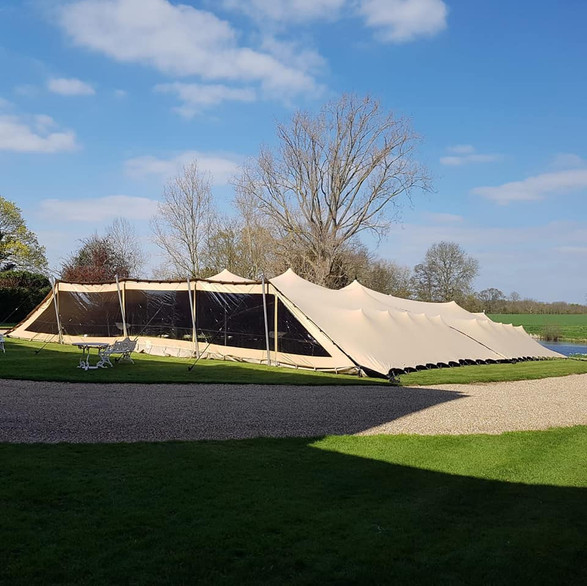 18x24m clear front winter stretch tent