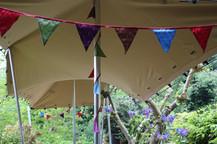 3x10m chino stretch tent stairs