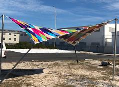 printed stretch tent