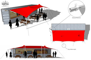 stretch tent shipping container