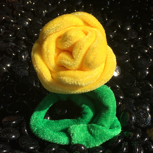 Plush Yellow Rose