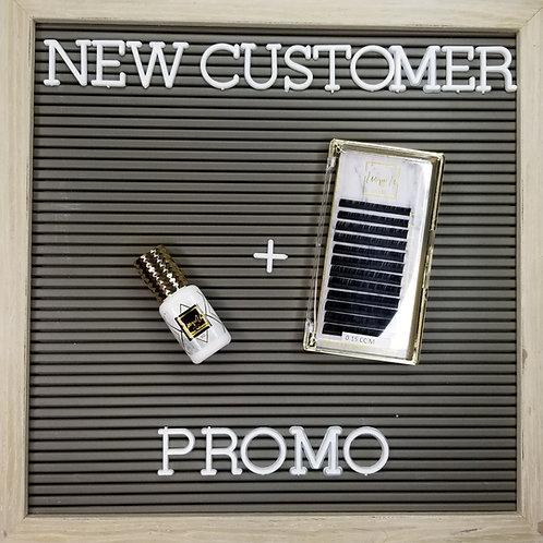 New Customer Promo 5ml Adhesive & 1 Tray of Mixed lashes