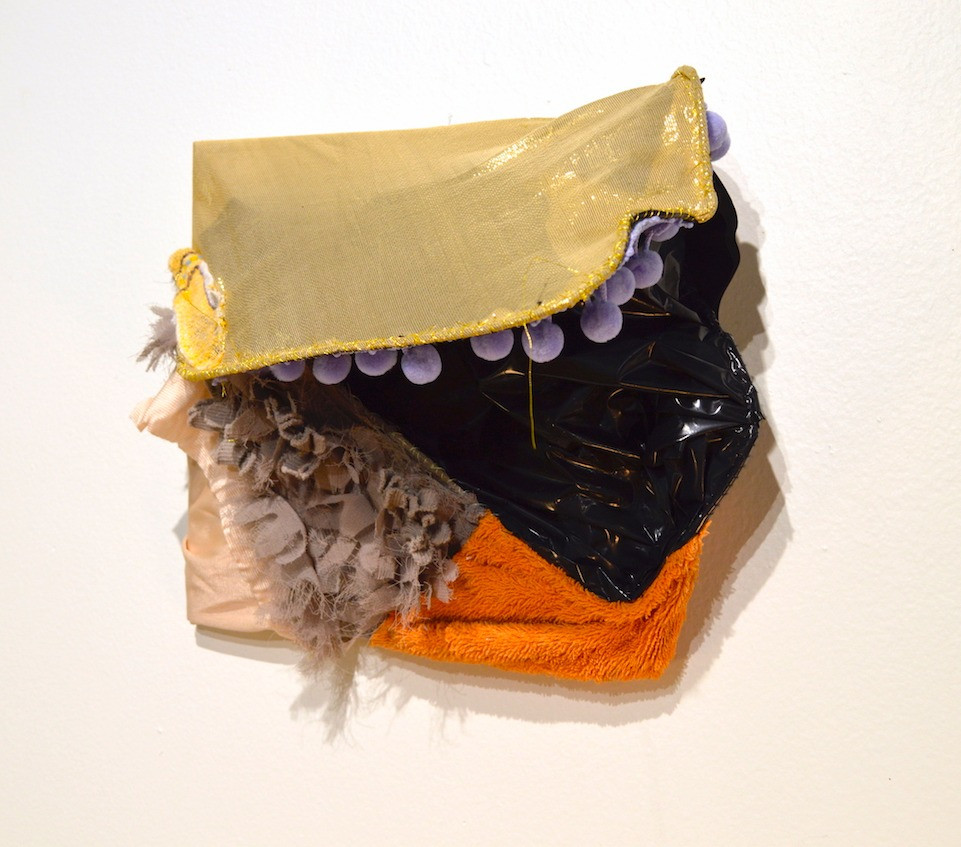 "Jenny Day, ""Fossil Fires For The Sun"", Wood, fabric, thread, plastic, metal, (8"" x 8"" x 5.5""), 2016"