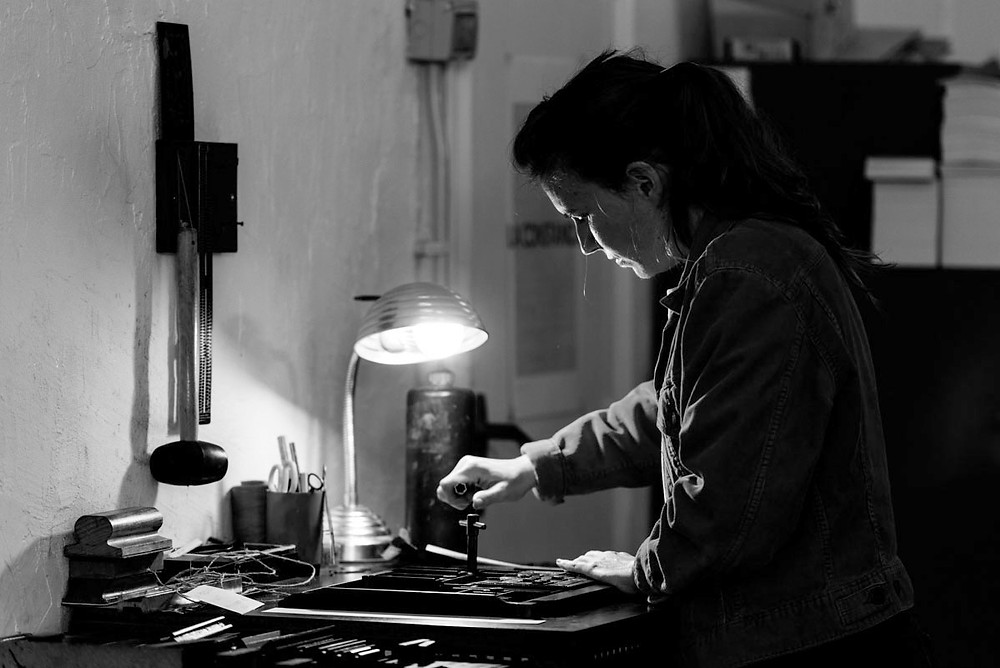 Ariadna Serrahima, 'A Love Story since 2011'. Printing with the Heidelberg in L'Automàtica (Barcelona, March 2017)