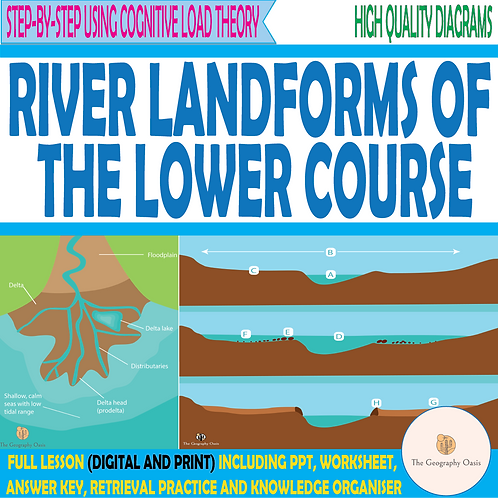 River Landforms of the Lower Course (Flood Plains and Deltas)