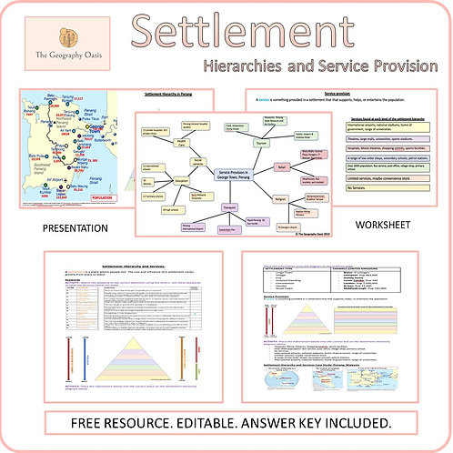 Settlement Hierarchy and Services