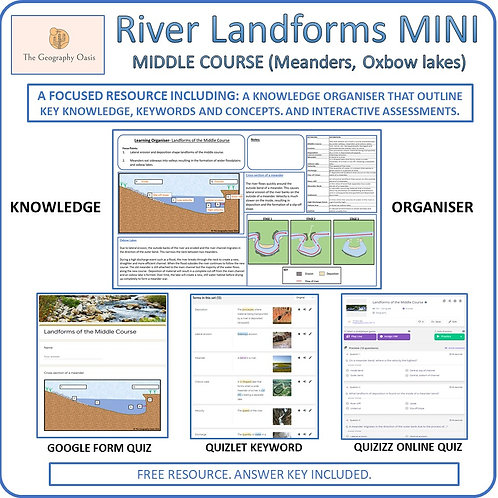 River Landforms of the Middle Course MINI (Meanders and Oxbow Lakes)