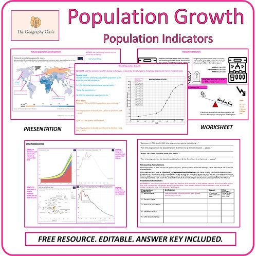 World Population Growth and Population Indicators