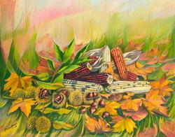 Outono, millo e castañas