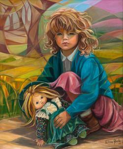 Nena con moneca I