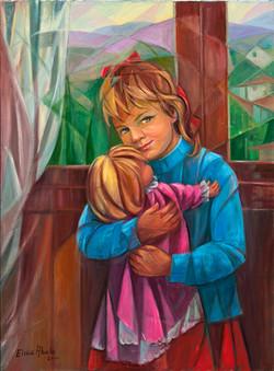 Nena con moneca II