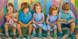 Os nenos sentados