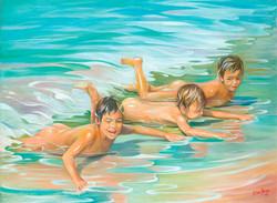 Nenos na praia