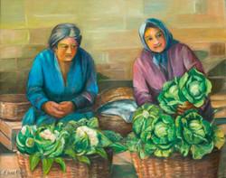 Vendendo verduras