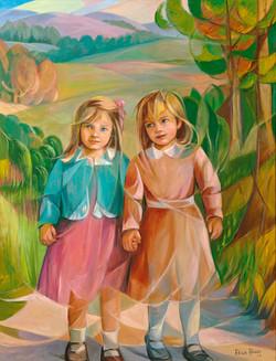 Rapazas camiñando