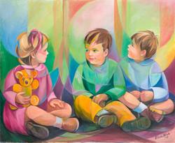 Nenos sentados
