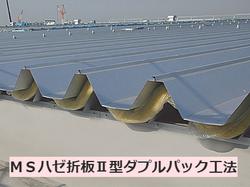 MSハゼ折板Ⅱ型ダブルパック工法