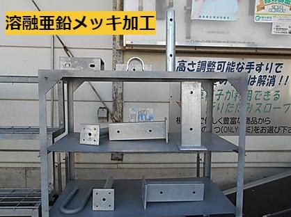 溶融亜鉛メッキ加工