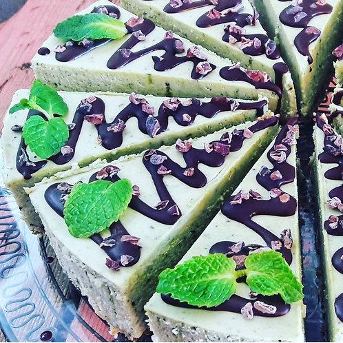 Matcha Mint Chocolate Cheesecake