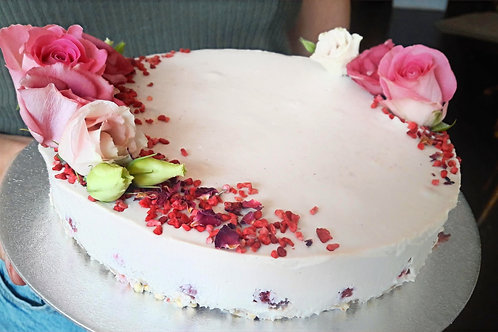 Raspberry & Rose Cheesecake