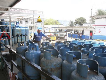 El precio del gas licuado de petróleo (GLP) doméstico se mantiene en USD 1,60 en depósitos