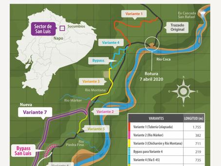 Petroecuador construirá dos by pass: uno para el SOTE y otro para el poliducto en San Luis, Napo