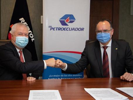 EP Petroecuador y Repsol Ecuador firman convenio de cooperación técnica operativa