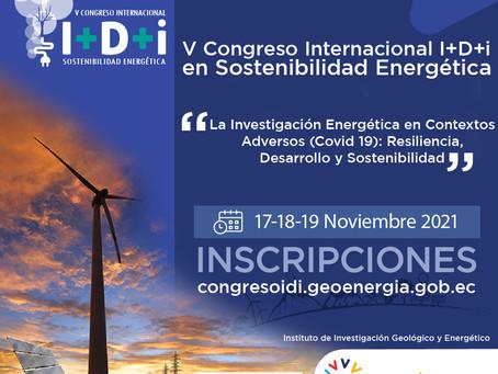 Inscripciones abiertas para el V Congreso InternacionalI+D+i en Sostenibilidad Energética
