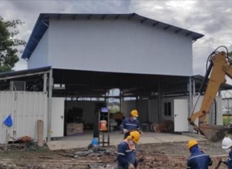 CELEC EP Termopichincha avanza con la instalación de la Central Shushufindi