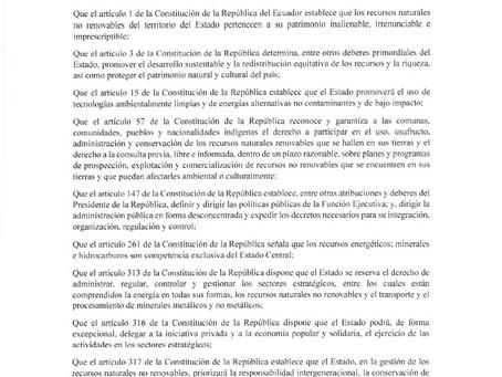 Decreto 151.- Se expide el Plan de Acción para el Sector Minero del Ecuador